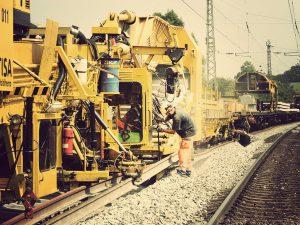 Komplettsanierung einer Schienenstrecke.