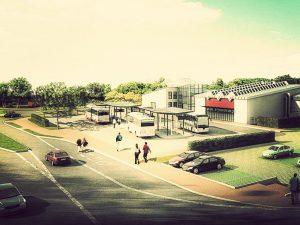 Der geplante Busbahnhof in Monschau Imgenbroich.
