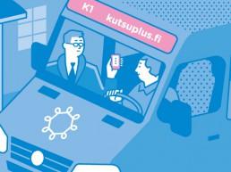 Hier kommt Kutsuplus, der smarte On-Demand-Bus.