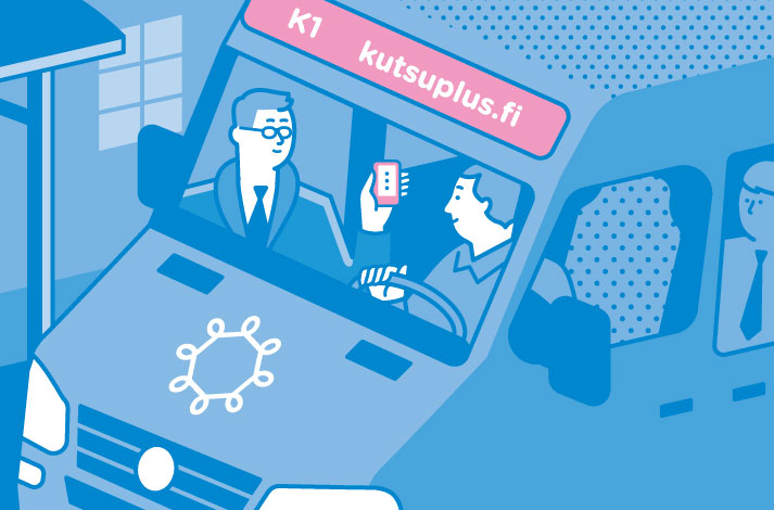 Hier kommt Kutsuplus, der smarte On-Demand-Bus.