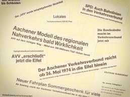 Zeitungsschlagzeilen zur Gründung des AVV.