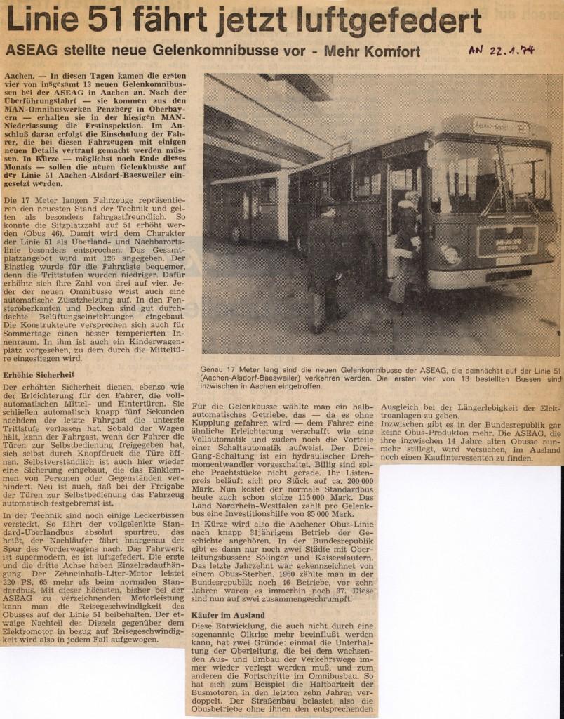 Zeitungsbeitrag von 1974.