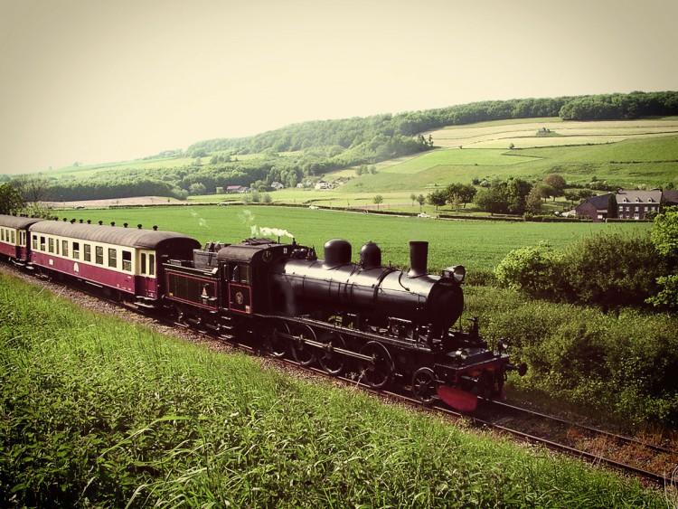 Eine Dampflock unterwegs in Südlimburg.
