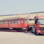 Verladung von Triebwagen 26 auf dem ASEAG-Betriebshof.