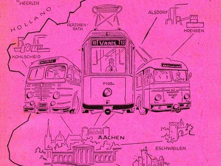 Ausschnitt aus Titel des Fahrplanbuchs 1959