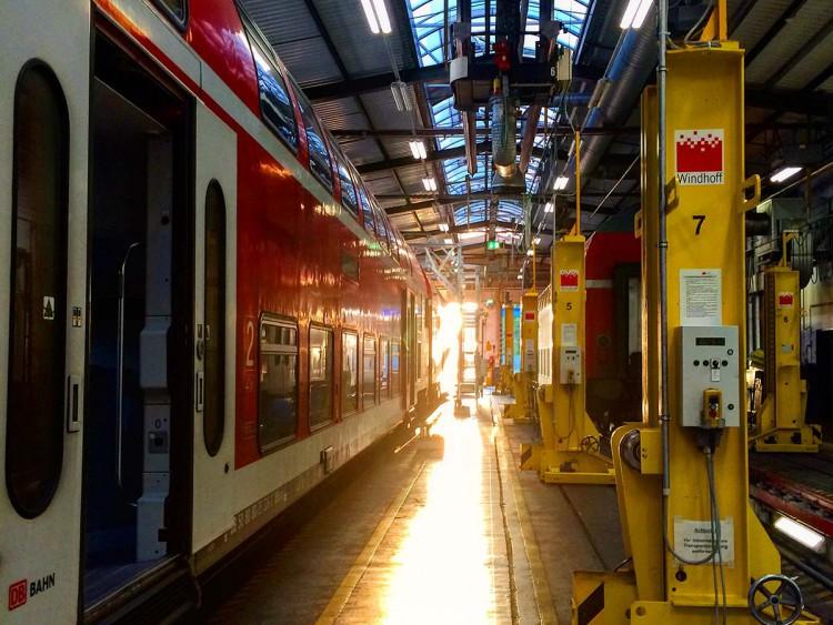 Blick in das DB Werk Aachen