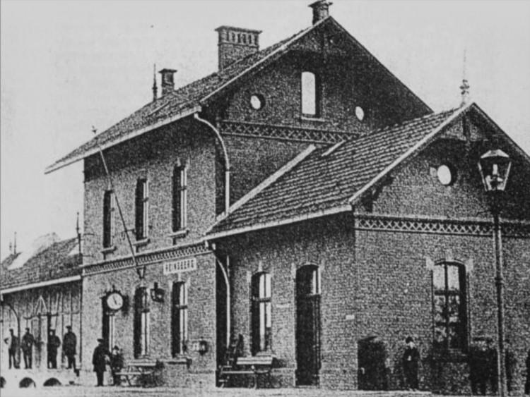 Der Bahnhof Heinsberg um die Jahrhundertwende.