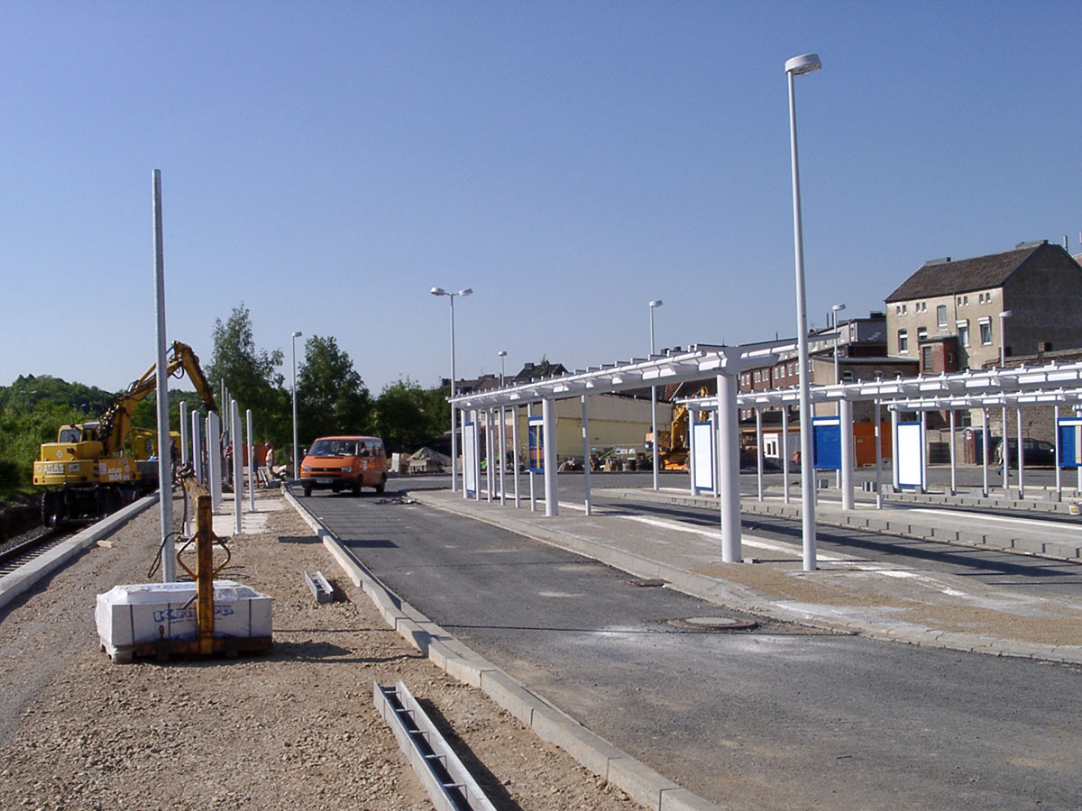 Bauarbeiten am Mühlener Bahnhof