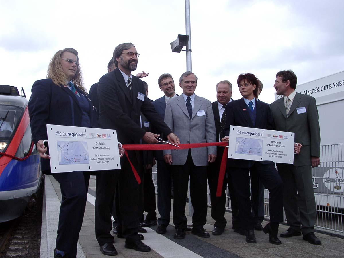 Betriebsaufnahme der euregiobahn in 2001