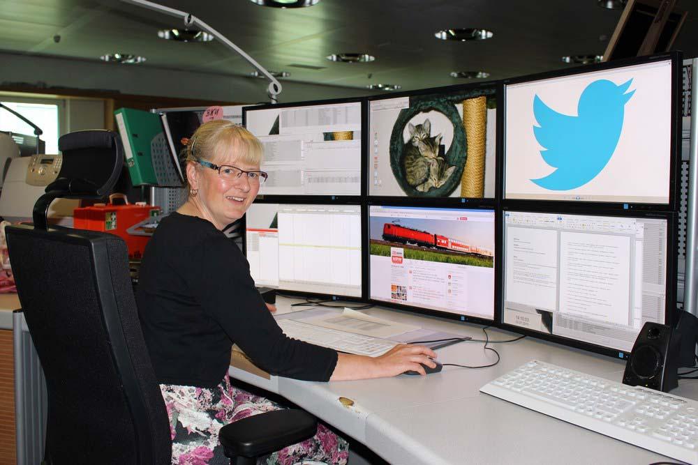 Silvia Oellers twittert über Störungen für den Streckenagenten.