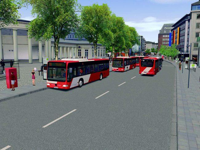 Am Computer mit dem Bus durch Aachen
