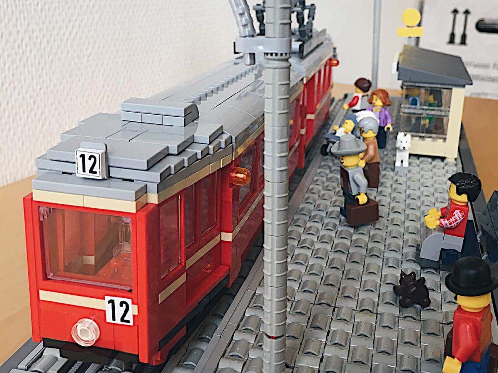 Die Buttertram aus Lego.