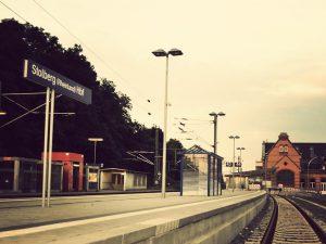 Der neue Bahnsteig am Stolberger Hauptbahnhof.