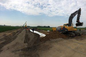 Bauarbeiten am neuen Haltepunkt St. Jöris.