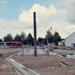 Bauarbeiten am neuen Bushof in Imgenbroich.