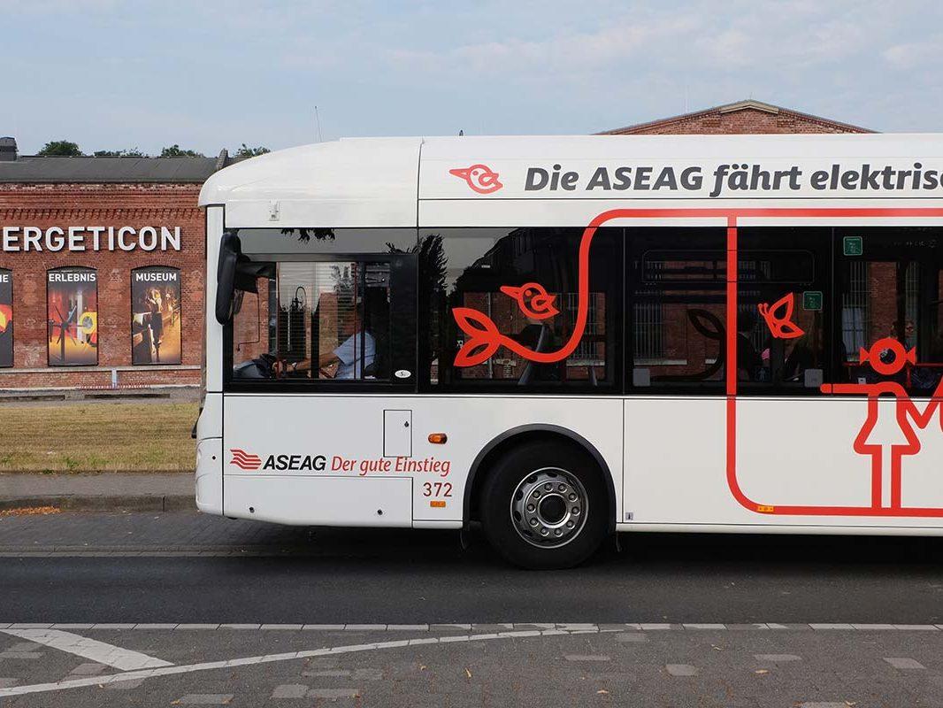 Der Elektrobus der ASEAG